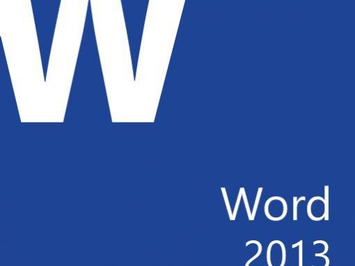 Word 2013, fonctions de base (ANNULÉ)